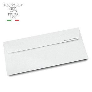 PIGNA Busta commerciale, Autoadesiva, Carta, 110 x 230 mm, Bianco (confezione 500 pezzi)