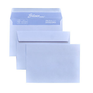 PIGNA Busta commerciale Silver Matic , Patella gommata, Senza finestra, 11,4 x 16,2 cm, Bianco (confezione 500 pezzi)