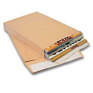 PIGNA Busta per catalogo, Chiusura adesiva, Carta Kraft, 400 x 300 mm, Avana (confezione 250 pezzi)