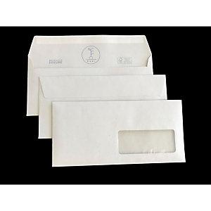 PIGNA Buste in carta riciclata Kami, Con finestra, Strip adesivo, 11 x 23 cm (confezione 500 pezzi)