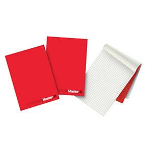 PIGNA Master Blocco note, Formato A4, Quadretto 10 mm, Carta bianca