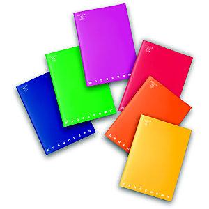 PIGNA Monocromo Maxi Quaderni A4, 42 fogli a quadretti 4 mm, Senza margini, Copertina in PPL, Colori assortiti