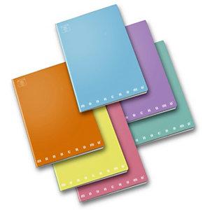 PIGNA Monocromo Pastel Quaderno A4, 42 fogli a quadretti 4 mm, Senza margini, Copertina plastificata, Colori assortiti (confezione 10 pezzi)