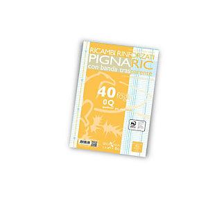 PIGNA Ricambi rinforzati PIGNARIC, Formato A4, Quadretti 0Q (confezione 40 fogli)