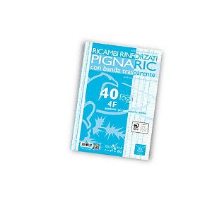 PIGNA Ricambi rinforzati PIGNARIC, Formato A4, Quadretti 4F (confezione 40 fogli)