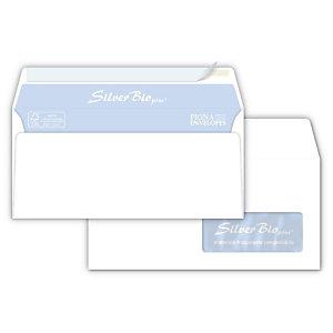 PIGNA Silver Bio Strip Busta commerciale con finestra, Strip adesivo, Carta, 11 x 23 cm, Bianco (confezione 500 pezzi)