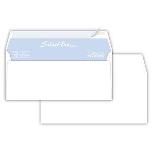 PIGNA Silver Bio Strip Busta commerciale senza finestra, Strip adesivo, Carta, 11 x 23 cm, Bianco (confezione 500 pezzi)