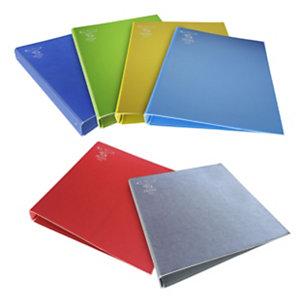 PIGNA Texture Raccoglitore ad anelli, A4, Dorso 4 cm, Colori assortiti