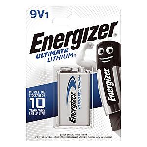 Pile Ultimate Lithium 9V - LR61 Energizer