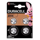 Piles boutons Lithium DL / CR 2016, lot de 4 piles