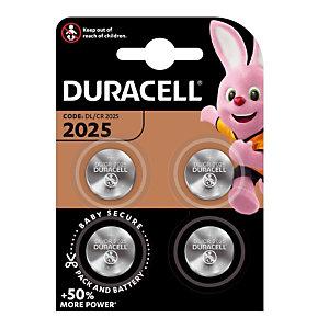 Piles boutons Lithium DL / CR 2025, lot de 4 piles