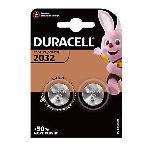 Piles boutons Lithium DL / CR 2032, lot de 2 piles