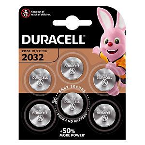 Piles boutons Lithium DL / CR 2032, lot de 6 piles