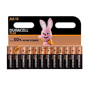 Piles Duracell Plus AA / LR6, lot de 12 piles