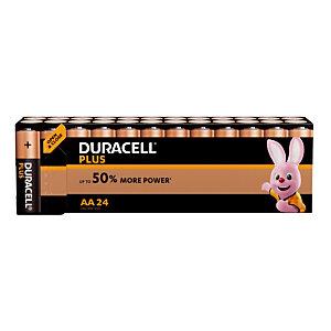 Piles Duracell Plus  AA / LR6, lot de 24 piles