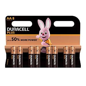 Piles Duracell Plus  AA / LR6, lot de 8 piles