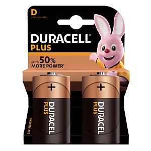 Piles Duracell Plus D / LR20, lot de 2 piles