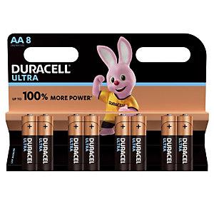 Piles Duracell Ultra AA / LR6, lot de 8 piles