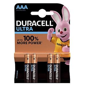 Piles Duracell Ultra AAA / LR03, lot de 4 piles