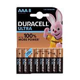 Piles Duracell Ultra AAA / LR03, lot de 8 piles