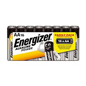 Piles Energizer Alkaline Power LR06 - AA, le lot de 16