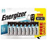 Piles Energizer Max Plus AA, pack de 12 piles##Batterijen Energizer Max Plus AA, set van 12 batterijen