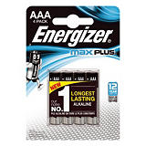 Piles Energizer Max Plus AAA, lot de 4 piles