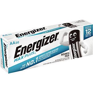 Piles Energizer Max Plus Business AA, lot de 20 piles