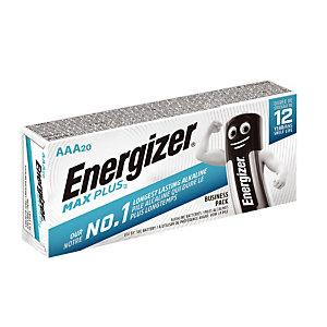 Piles Energizer Max Plus Business AAA, lot de 20 piles