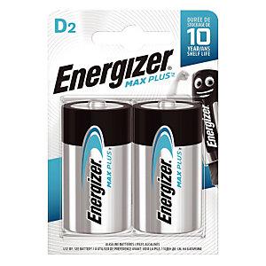 Piles Energizer Max Plus D, lot de 2 piles