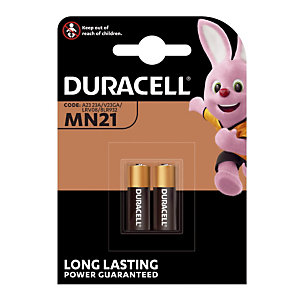 Piles spéciales alcalines MN21 / A23, lot de 2 piles