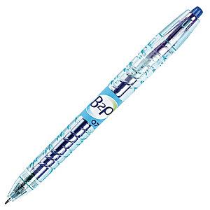 Pilot Begreen B2P Bolígrafo retráctil de gel, punta mediana de 0,7mm, cuerpo de plástico azul con grip, tinta azul