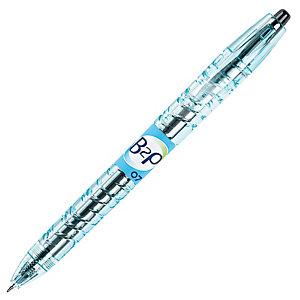 Pilot Begreen B2P Bolígrafo retráctil de gel, punta mediana, cuerpo de plástico azul con grip, tinta negra