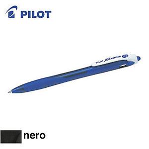 Pilot Begreen Rexgrip Penna a sfera a scatto, Punta fine, Fusto nero con grip, Inchiostro nero (confezione 10 pezzi)