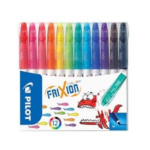 Pilot FriXion Colors Feutre effaçable pointe moyenne 2,5 mm - 12 couleurs assorties