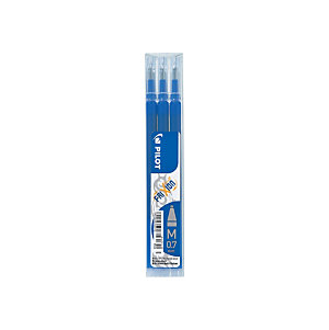 Pilot FriXion Recambio para bolígrafo de tinta líquida, punta mediana de 0,7 mm, tinta azul