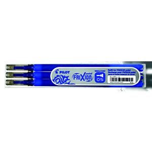 Pilot FriXion Recambio para bolígrafo de tinta líquida, tinta termosensible borrable, punta fina de 0,5 mm, tinta azul