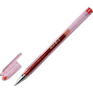 Pilot G-1 Penna gel Stick, Punta fine da 0,7 mm, Fusto traslucido con grip, Inchiostro rosso (confezione 12 pezzi)
