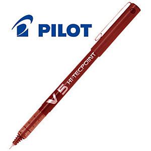 Pilot Hi-Tecpoint V5 Roller Stick, Punta extra fine, Fusto rosso, Inchiostro rosso