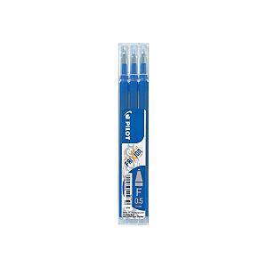 Pilot Recharge pour stylo roller encre gel effaçable FriXion Clicker pointe fine 0,5 mm bleu - Pochette de 3