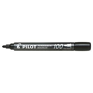 Pilot SCA-100 Marcador permanente multisuperficies, punta cónica de fibra de 1,0 mm, negro