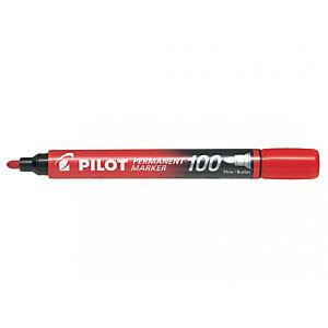 Pilot SCA-100 Marcador permanente, punta ojival mediana, 1 mm, rojo