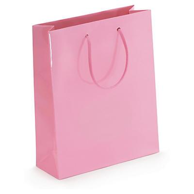 Pink gloss laminated gift bags