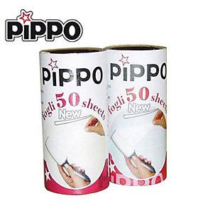 PIPPO Pezzi di ricambio per spazzola adesiva (confezione 2 pezzi)