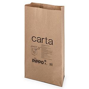PIPPO Sacco in carta per raccolta differenziata, Avana, 30 litri (confezione 10 pezzi)