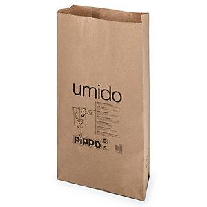 PIPPO Sacco in carta per raccolta umido, Avana, 60 litri (Confezione 5 pezzi)