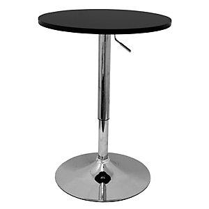 PIQUERAS Y CRESPO Abengibre Mesa alta de cafetería, Ø 60 x 72/92 cm, negro