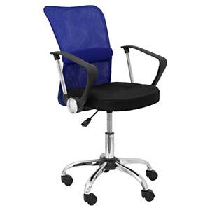 PIQUERAS Y CRESPO Silla de oficina Cardenete, ergonómica, con mecanismo giratorio, brazos fijos y asiento regulable en altura