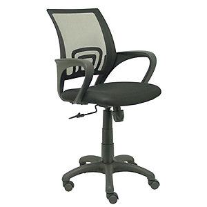 PIQUERAS Y CRESPO Vianos Silla de oficina, malla y tela, altura 91,5-101 cm, negro