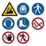 Pittogrammi sicurezza adesivi per pavimento